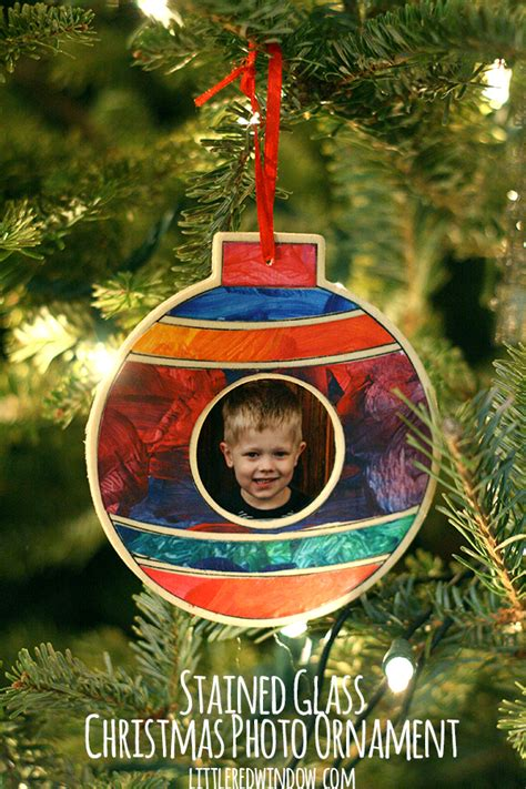 stained glass ornament kits stained glass photo ornament window