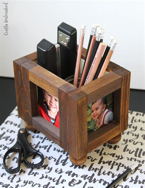 photo desk organizer diy desk organizer wood photo frames consumer crafts