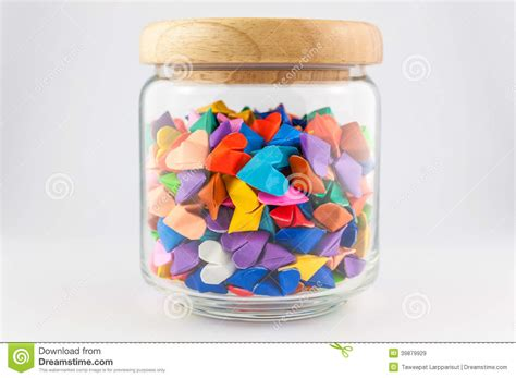 origami in a jar origami in jar stock photo image 39879929