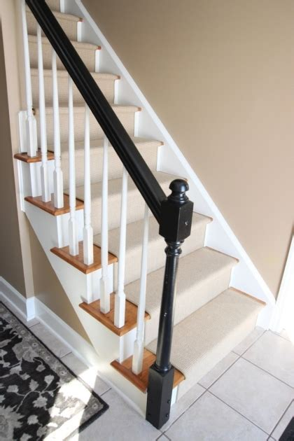 black staircase oak staircase white spindles design treads combine with
