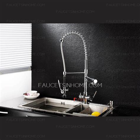 designer kitchen faucet designer rotatable pullout kitchen faucet chrome stainless
