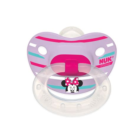 minnie mouse 2 pack orthodontic pacifiers from nuk