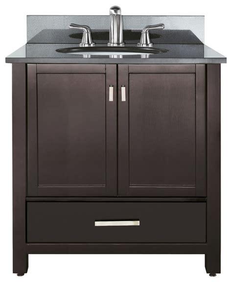 bathroom vanity and top combo modero 36 vanity combo espresso black granite top