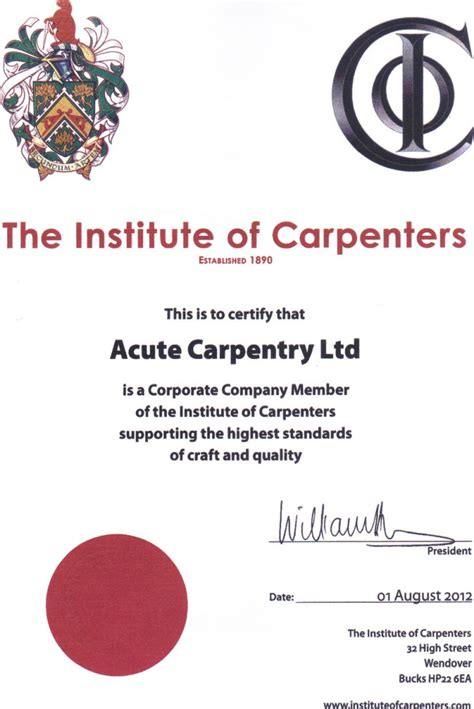 woodwork qualifications qualifications acute carpentry