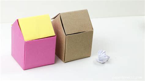 origami garbage bin origami rubbish bin paper kawaii