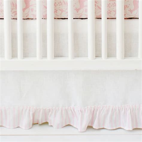 bed skirts for baby cribs pink and white crib skirt tailored crib skirt with pleat