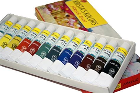 acrylic paint kits for beginners acrylic paint set 12 count 12 ml kit for adults