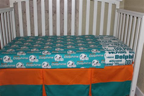 miami dolphins crib bedding sets crib bedding set miami dolphins 5 nfl bumperless