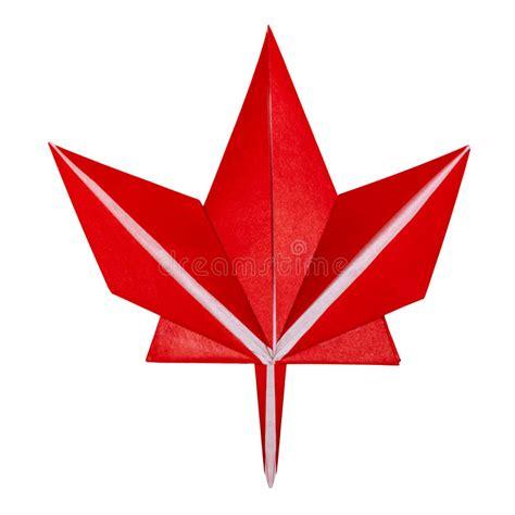 origami paper canada origami fall maple leaf stock photo image 75944885