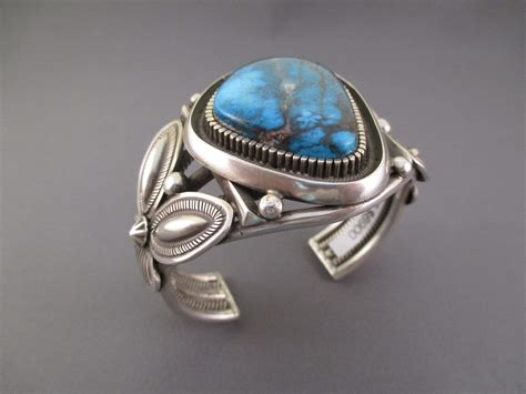 silversmith jewelry br3716 sterling silver cuff bracelet with bisbee turquoise