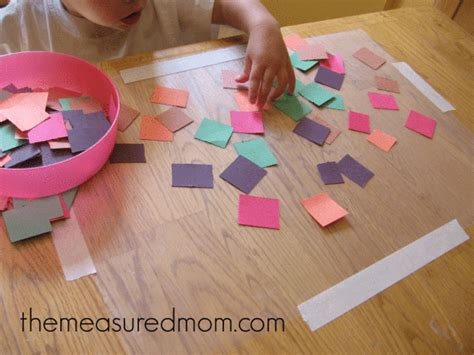 contact paper craft toddler time 5 ways to keep a 1 year busy the