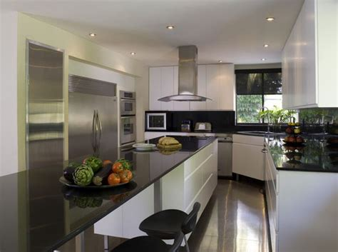 corner kitchen sink unit chic modern kitchen with polished surfaces and a smart