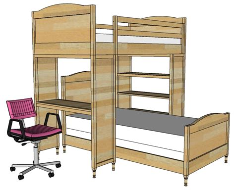how to build a bunk bed with desk white chelsea bunk bed system desk or bookshelf
