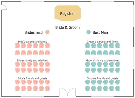 wedding reception floor plan template seating plans solution conceptdraw