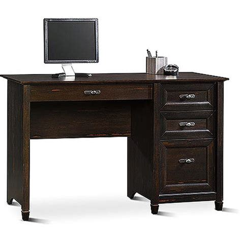 walmart desks black sauder new cottage desk antiqued black paint walmart