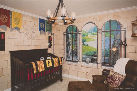 Harry Potter Wall Murals parents create a magical harry potter themed nursery