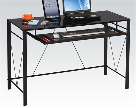 computer desk contemporary contemporary computer desk by acme furniture ac92080