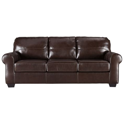 furniture leather sleeper sofa signature design by canterelli leather match