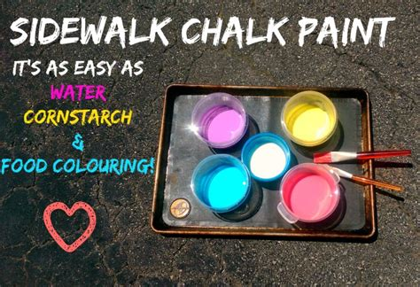 chalk paint easy sidewalk chalk paint recipe it s ridiculously easy you