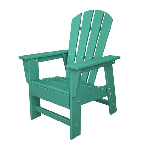 Plastic Adirondack Chairs Lowes by Shop Polywood Aruba Plastic Adirondack Chair At Lowes