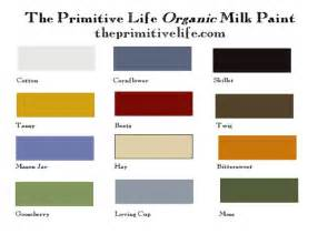 paint colors for country color chart primitive country