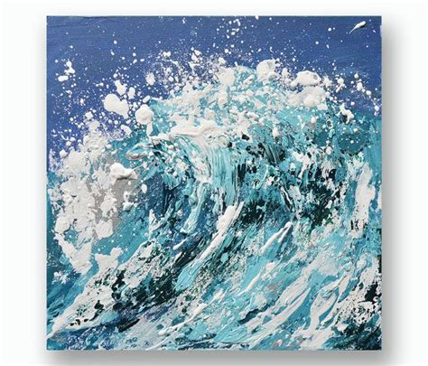 acrylic painting waves 25 unique wave paintings ideas on what are