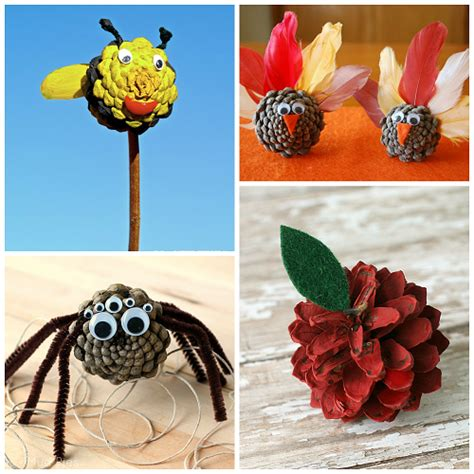 craft ideas with pine cones for pine cone crafts for to make crafty morning