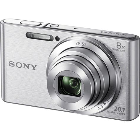 camara fotos sony sony dsc w830 digital camera silver dsc w830 b h photo video