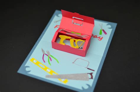make your own pop up card make your own s day pop up toolbox card diy