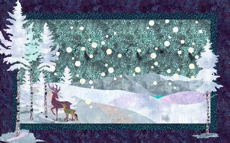 landscape quilt patterns winter stroll winter landscape quilt by quiltfusion