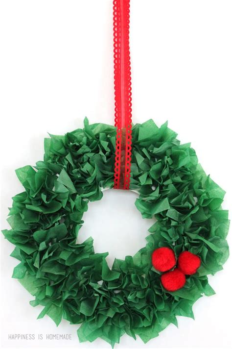 how to make tissue paper crafts 25 unique tissue paper wreaths ideas on