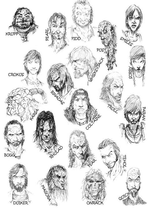 malazan book of the fallen character pictures erikson characters by slaine69 on deviantart malazan