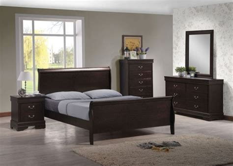 houzz bedroom furniture acme furniture louis philippe iv brown 5