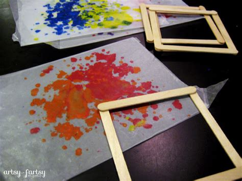 wax paper crafts for diy wax paper lantern artsy fartsy