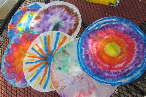 tie dye paper craft easy craft idea tie dye paper evolving motherhood