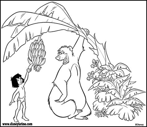 jungle book pictures to colour free jungle book disney coloring pages