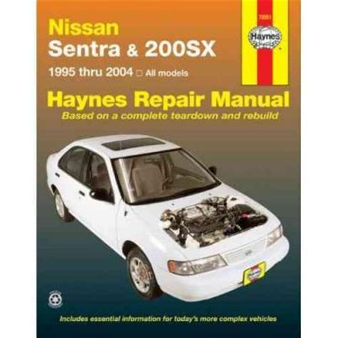 service and repair manuals 1995 nissan sentra lane departure warning nissan sentra and 200sx 1995 2004 haynes service repair manual sagin workshop car manuals