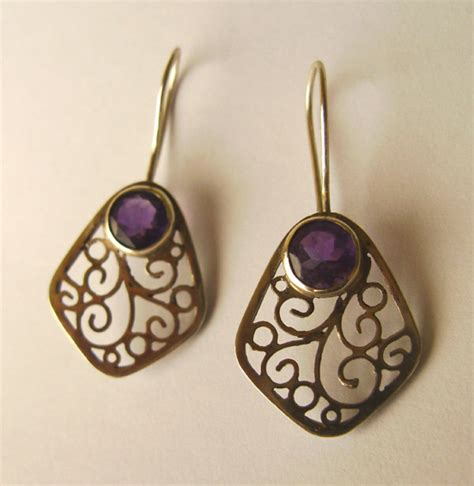 how to make filigree jewelry silver filigree earrings by geshar on deviantart
