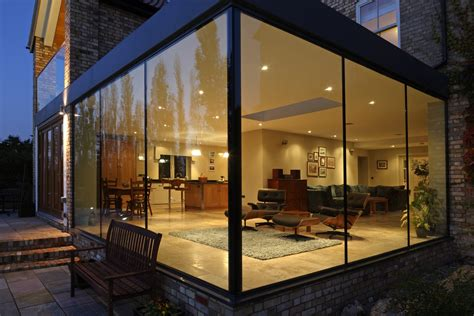 Open House Floor Plan modern glass addition to otherwise traditional home