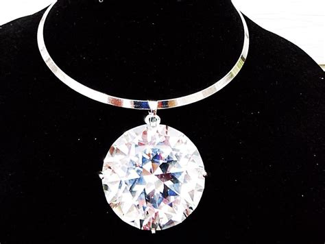 rhinestone pendants jewelry large big clear gem rhinestone necklace bib