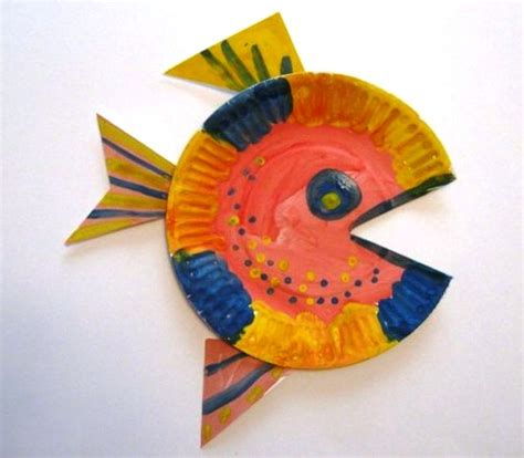 Paper Plate Fish Craft Ideas Crafts For