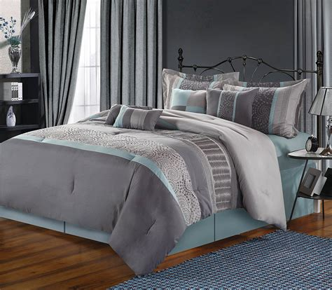 grey blue comforter set gray bedding is lovely webnuggetz