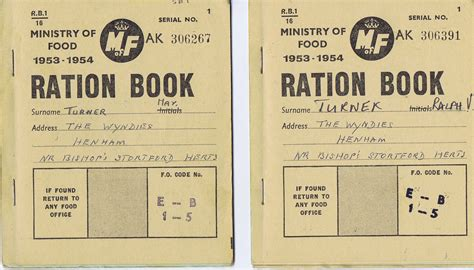 pictures of ration books henham history essex
