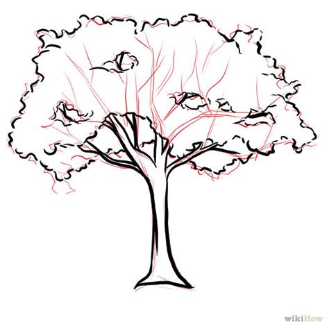 how to draw a realistic tree step by step how to draw a cherry tree 7 steps wikihow