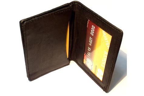 leather id card holder leather credit card id holder slim design black s wallet ebay