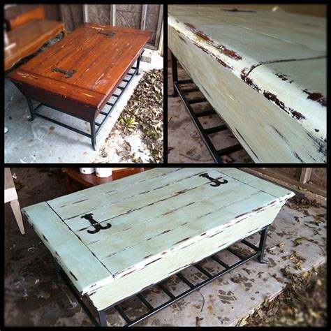 chalk paint distress before or after wax painted coffee table before after i used sloan