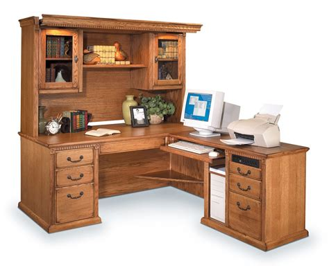 l computer desk with hutch solid wood computer desk with hutch sauder harvest mill
