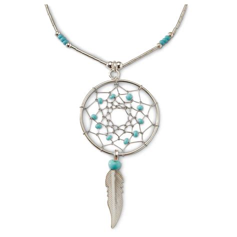 sterling silver jewelry sterling silver turquoise dreamcatcher necklace 616783