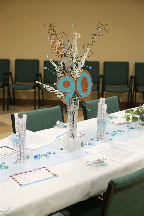 90th birthday centerpiece ideas 25 best images about 90th birthday ideas on