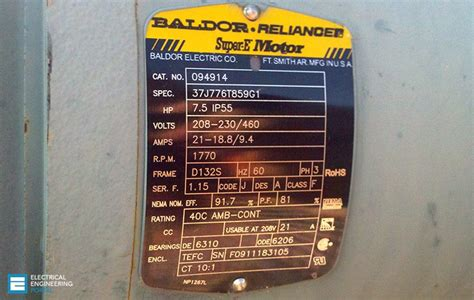 Electric Motor Information by 19 Essential Information You Can Find On Motor Nameplate Eep
